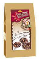 """Песочное печенье """"Шоколад в шоколадной глазури"""" со стевией 130 г Стевиясан KK-0048"""