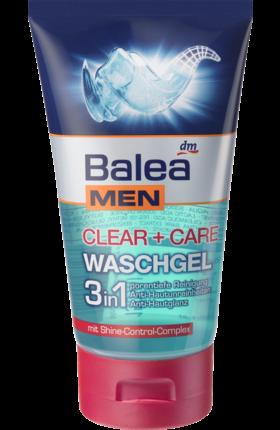 "Balea MEN Waschgel clear + care 3in1 - Гель-пилинг 3in1 для ухода за мужской кожей лица, 150 мл - Интернет-магазин ""Altro"" в Ужгороде"