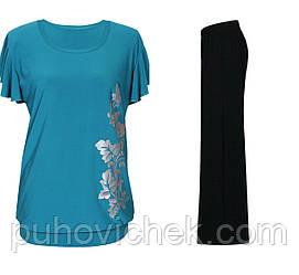 Летний костюм женский футболка и брюки