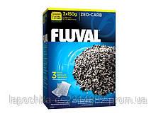 Наполнитель для фильтра Fluval Zeo-Carb активированный уголь и цеолит, 3 х 150 г