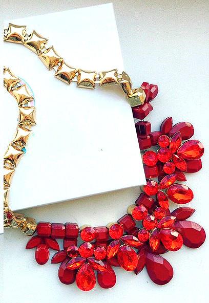 b0a8c7aed0c6 Колье Летиция красное, бижутерия недорого - Интернет-магазин
