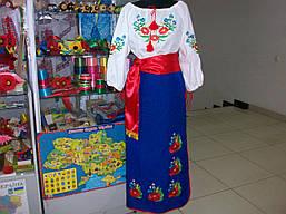 Украинский женский костюм (вышиванка+плахта+ пояс), фото 3
