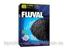 Наполнитель для фильтра Fluval Carbon активированный уголь 3 х 100 г