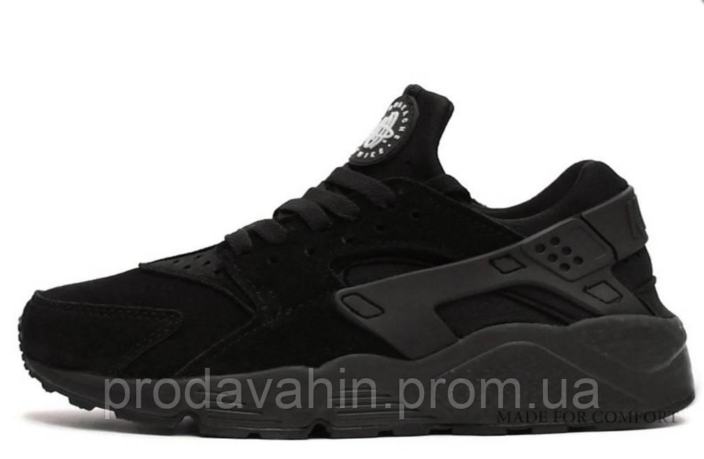 51a3f10d Женские кроссовки Nike Huarache All Black Suede беговые , цена 1 099 грн.,  купить в Киеве — Prom.ua (ID#174131454)