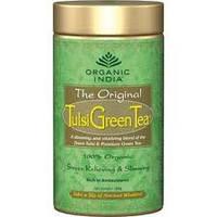 Чай органический Тулси (базилик) - Зелёный чай - Organic India, Tulsi-Green tea, Аюрведа Здесь