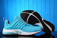 Женские кроссовки Nike Air Presto Flyknit Weaving Light Blue беговые