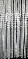 Тюль вышивка на микросетке Перо - 6 метра