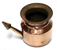 Нети пот (400 мл.), медный чайничек для промывания носа, Аюрведа Здесь