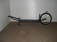 Велосипедный прицеп черный из метала  (Велоприцеп)