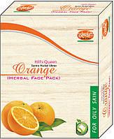 Маска для лица травяная Апельсин Кхади для жирной кожи, Orange Herbal Face Pack Khadi, Аюрведа Здесь