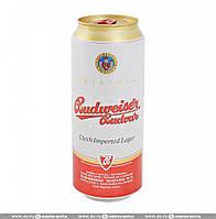 Пиво светлое Budweiser Budvar 12% 0.5 банка Чешская республика