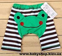 Детские шорты с рисунками на попках (лягушонок)