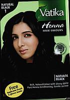 Краска Dabur VATIKA Naturals Чёрная для волос на основе натуральной хны, Аюрведа Здесь