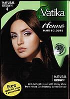 Краска Dabur VATIKA Naturals Коричневая для волос на основе натуральной хны, Аюрведа Здесь