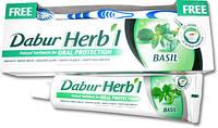 Зубная паста без фтора Дабур Базилик 150 гр. + зубная щётка в подарок!, Dabur Basil, Аюрведа Здесь