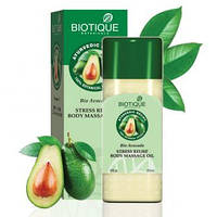 Массажное масло Био Авокадо Biotique Биотик успокаивающее и регенерирующее, Biotique Bio Avocado Stress Relief Body Massage oil,