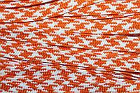 Тесьма ПЭ 12мм (100м) оранжевый+белый , фото 1