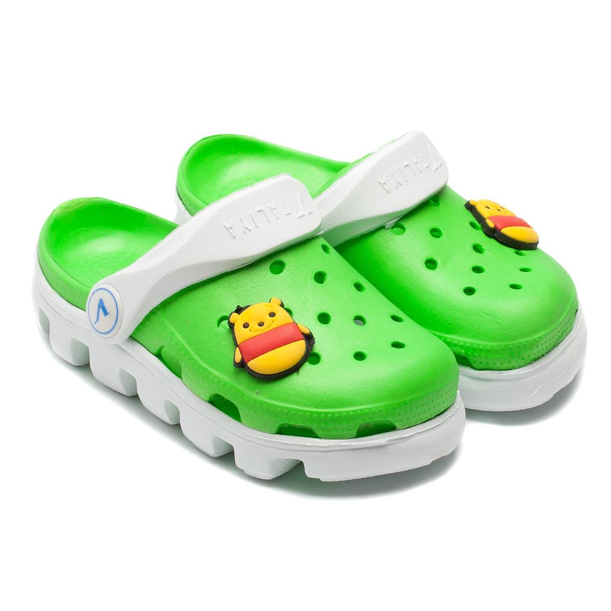 Кроксы Vitaliya для мальчика,зеленые, размер 20-31