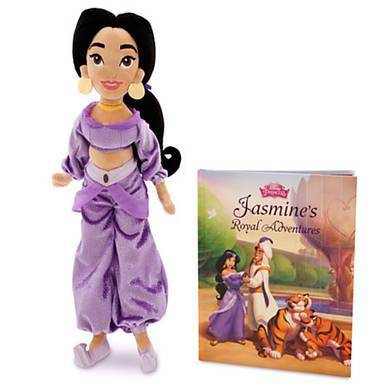 Плюшевая кукла Жасмин 40 см в наборе с книгой Дисней / Jasmine Plush Doll and Storybook Set Disney