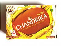 Мыло аюрведическое ручной работы Чандрика Сияние с шафраном и сандалом, Glow Chandrika Sandal & Safron, Аюрведа Здесь