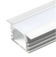 Алюминиевый профиль ПРЕМИУМ для светодиодной ленты врезной высокий