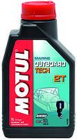 Масло 2 т для лодочных моторов MOTUL 1 литр полусинтетика