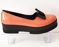 Туфли женские оранжевые Olli 1453