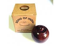 Сухие Духи Дикая Роза 6 грм в деревянной упаковке, Песня Индии, Song of India, R.Expo, Wild Rose, Natural Solid Fragrance, Аюрве