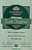 Чай органический Тулси, Базилик 100 грм.,слим-пакет, Tulsi, Organic India Zipper, Аюрведа Здесь