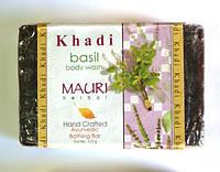 Мыло Кхади Базилик, Khadi Natural Basil Herbal Soap, Аюрведа Здесь