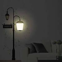 "Ночник ""Два фонаря"" NL60 - декоративная виниловая наклейка на стену 7W E14, фото 1"