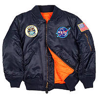 Детская куртка Alpha Industries Youth NASA MA-1 YJM21093C1 (Replica Blue)