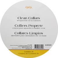 Бумажные воротнички на аппарат для разогрева воска - GiGi Clean Collars, 20 шт