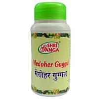 Медохар Гугул 100 таб, Medohar Guggulu, Medoher Guggul Shri Ganga, контроль уровня холестерина и избыточного веса, Аюрведа Здесь