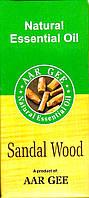 Натуральное эфирное масло Сандал 10 мл. Aar Gee Natural Essential Oil Sandal, Аюрведа Здесь