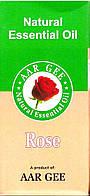 Натуральное эфирное масло Роза 10 мл. Aar Gee Natural Essential Oil Rose, Аюрведа Здесь