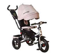 Трехколесный велосипед с поворотным сиденьем Azimut T400 Crosser AIR бежевый