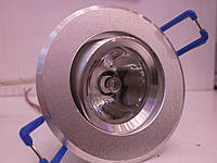 Встраиваемый светодиодный светильник (точечный) КВ001 1W (поворотный), фото 1