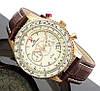Авиационные часы Alpha Industries Type Air Force 7446PG-Leather Alpha by Aeronautics (Brown)