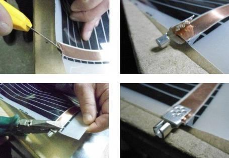 Комплект для подключения пленки Стандарт без провода, фото 2