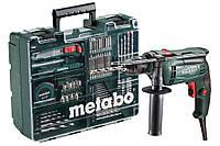 Дрель ударная Metabo SBE 650 БЗП (1,5-13мм) кейс + набор принадлежностей (79шт) 600671870