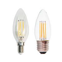 Светодиодная LED лампа Feron LB58 4W свеча Filament Е14/Е27
