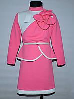 Платье для девочки 7-12 лет Николь розовое