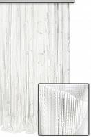"""Тюль вертикальный узор-полоска """"Шик"""",  белый лист"""