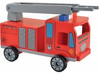 Пожарная машинка, деревянная