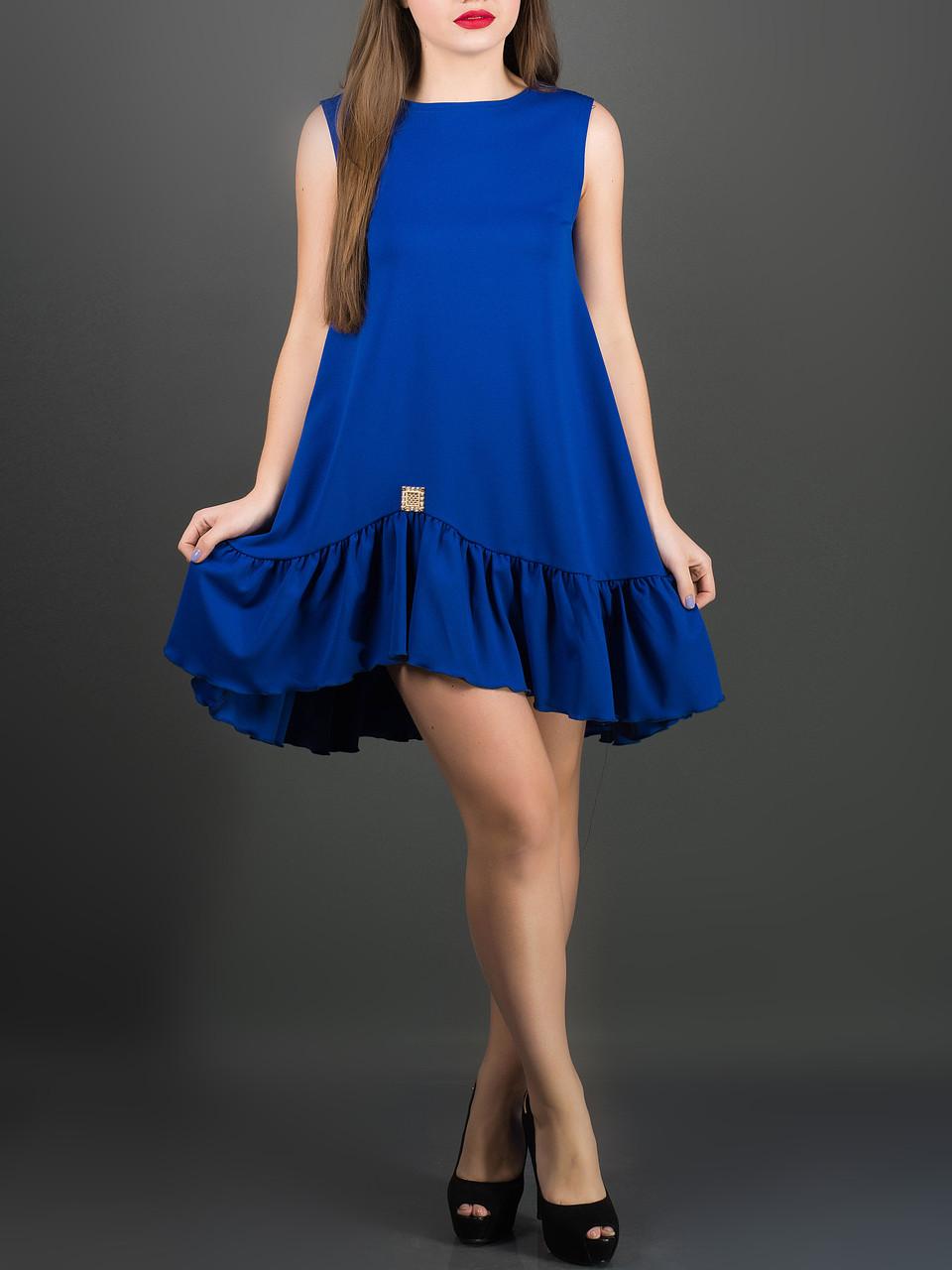"""Яркое женское платье """"Роми электрик"""", до 52 размера"""