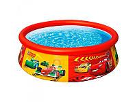 Надувной бассейн круглый Тачки Intex 28103