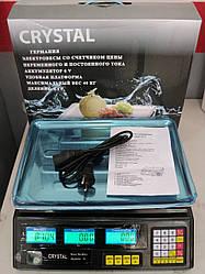 Електронні ваги Crystal до 40 кг акумулятор 6