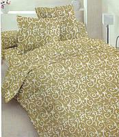 Простынь двуспальная, евро Оливковый орнамент, бязь (хлопок 100%)