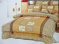 Простынь двуспальная, евро Леопард, бязь (хлопок 100%)